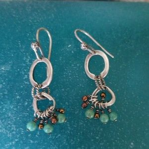Silpada ~ W1536 Howlite & Sterling Silver Earrings